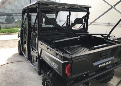 Polaris vehicle rear view